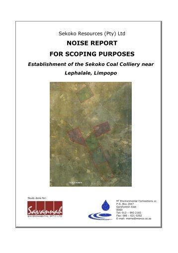 Appendix J Sekoko (Noise).pdf - Savannahsa.com