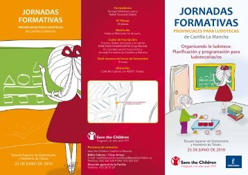 jornadas formativas provinciales para ludotecas - Save the Children