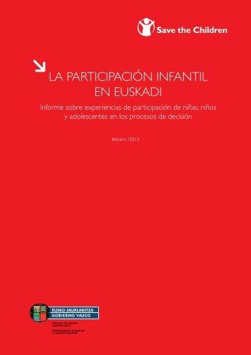 LA PARTICIPACIÓN INFANTIL EN EUSKADI - Save the Children