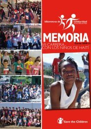Memoria VII Carrera - Save the Children