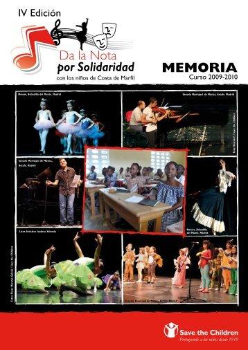 Memoria 2009-2010 - Save the Children