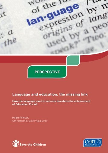 Language and education: the missing link