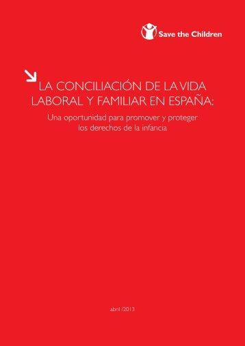 La conciliación laboral y familiar en España - Save the Children