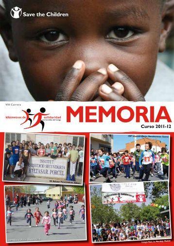 Memoria VIII Carrera - Save the Children