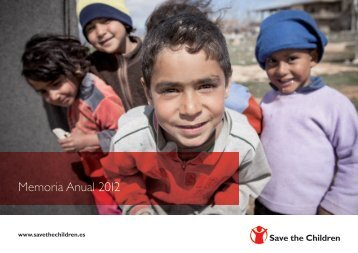 Comparte nuestra memoria Anual 2012 - Save the Children