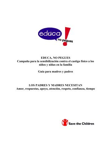 educa, no pegues - Save the Children
