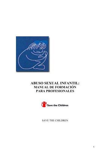 Abuso sexual infantil: Manual de formación para profesionales - Amuvi