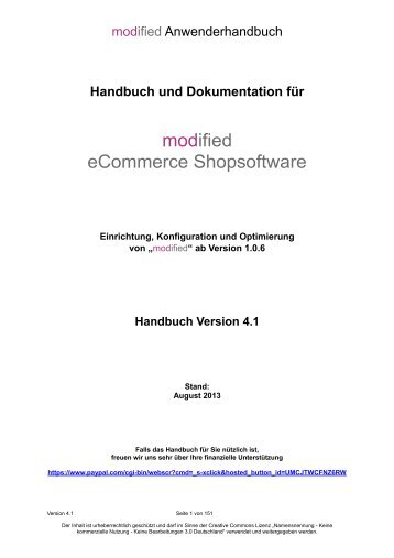 Download Anwenderhandbuch 4.1 - modified eCommerce ...