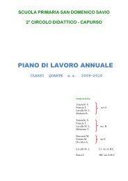 Piano di Lavoro classi Quarte - Istituto Comprensivo San Domenico ...