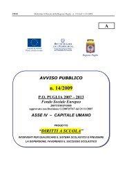avviso 14 2009 - Regione Puglia