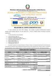 Relazione Conto Consuntivo - Istituto Comprensivo San Domenico ...