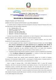 Relazione Programma Annuale - Istituto Comprensivo San ...