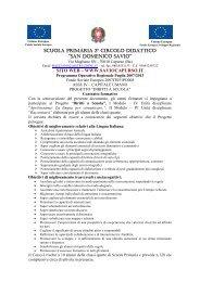 Contratto formativo - Classi quarte - Istituto Comprensivo San ...