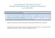 Sintesi SNV 2009 - Istituto Comprensivo San Domenico Savio di ...