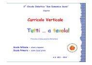 Curricolo - Istituto Comprensivo San Domenico Savio di Capurso