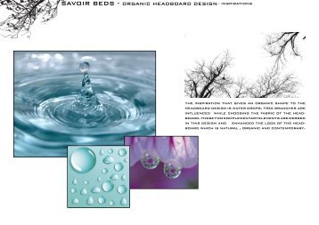 SAVOIR BEDS - ORGANIC HEADBOARD DESIGN