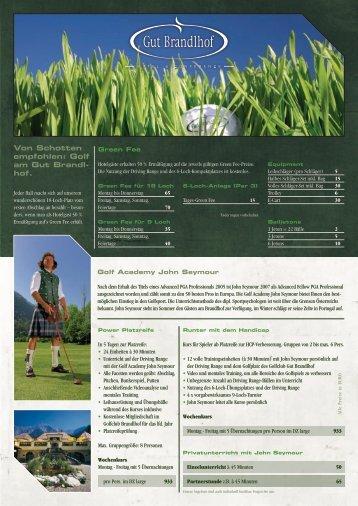 Von Schotten empfohlen: Golf am Gut Brandl- hof.