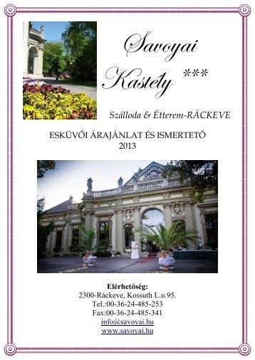 Szálloda & Étterem-RÁCKEVE - Savoyai Kastélyszálló