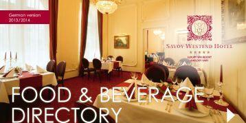 Herunterladen aktuelles Menü PDF - Hotel Savoy Westend