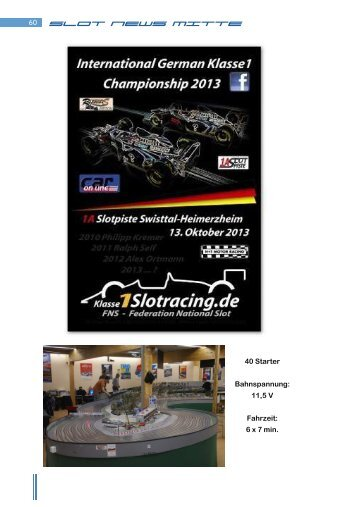 SLOT NEWS MITTE - Sawhill Racing Team