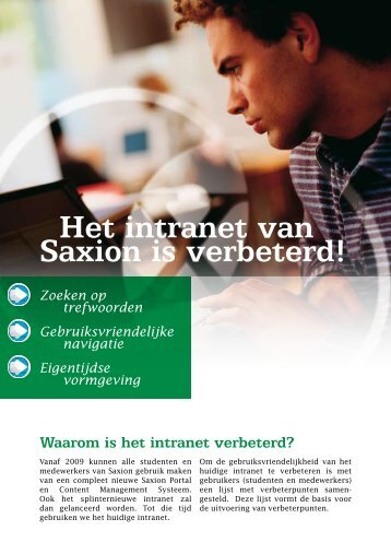 Saxion Intranet Flyer - Sax.nu