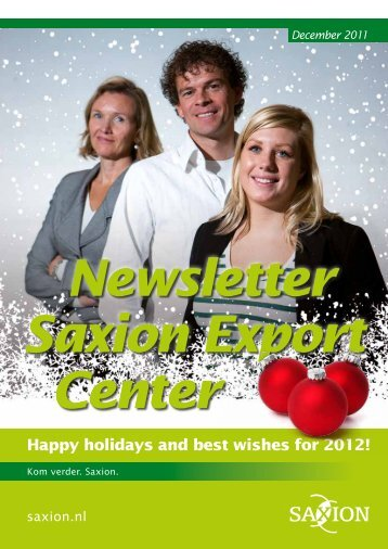 Happy holidays and best wishes for 2012!