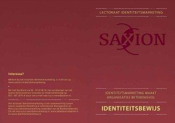 IDENTITEITSBEWIJS IDENTITEITSBEWIJS - Saxion Hogescholen