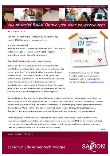 nieuwsbrief - Saxion Hogescholen