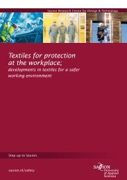 Textiles for protection at the workplace;