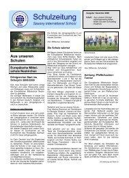 Ausgabe 1/2008 - Saxony International School