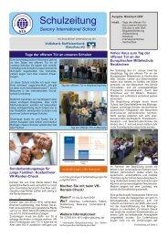 Schulzeitung - Ausgabe 1/2009 - Saxony International School