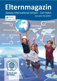 Elternmagazin Schuljahr 2013/2014 - Saxony International School