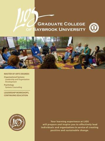 LIOS View Book - Saybrook University