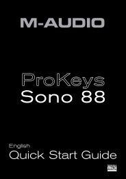 ProKeys Sono 88 | Quick Start Guide - M-Audio