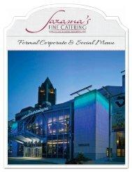 Formal Corporate & Social Menu - Saz's