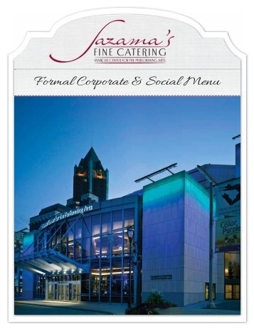 Formal Corporate & Social Menu - Saz's