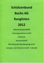Schützenbund Buchs AG Ranglisten 2012