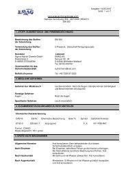 SICHERHEITSDATENBLATT - Emag AG