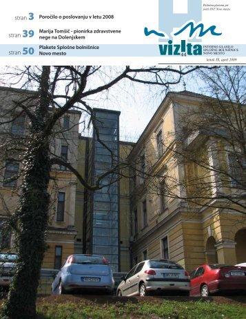 Glasilo Vizita - Ã…Â¡t.44 - SploÃ…Â¡na bolniÃ…Â¡nica Novo mesto
