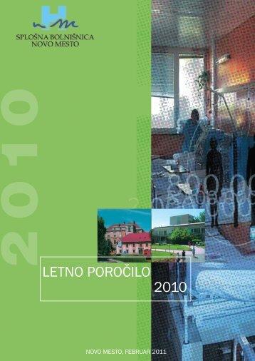 računovodsko poročilo za leto 2010 - Splošna bolnišnica Novo mesto