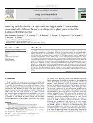 Diversity and distribution of methane-oxidizing microbial ...