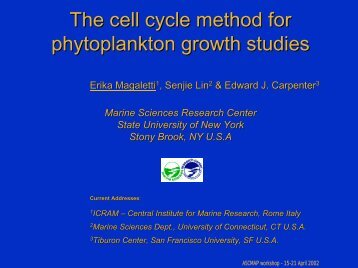 The cell cycle method for phytoplankton growth studies