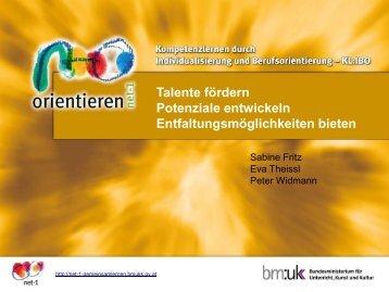 Kompetenzlernen durch Individualisierung und ... - sb-tirol.tsn.at