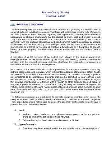 Board Policy 5511 - Dress and Grooming.pdf
