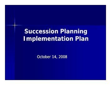 Succession Planning Implementation Plan