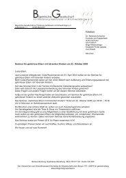 Anmeldung und Infos hier - Bayerische Gesellschaft