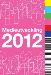 Medieutveckling 2012 - Myndigheten för radio och tv