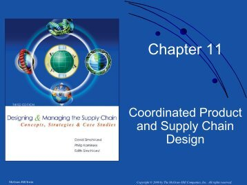 Chapter 11. Coordinated Product and Supply Chain Design