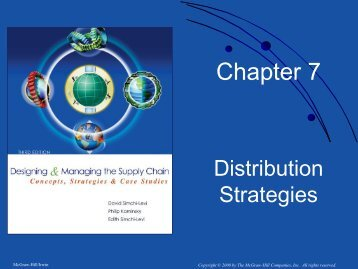 Chapter 7. Distribution Strategies