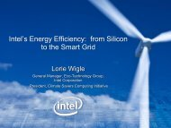 Intel's Energy Efficiency: from Silicon to the Smart Grid (pdf)